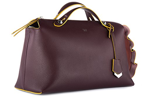 en à the grande way sac cuir by waves bauletto Fendi bordeaux coda femme main qIxTw5zRp