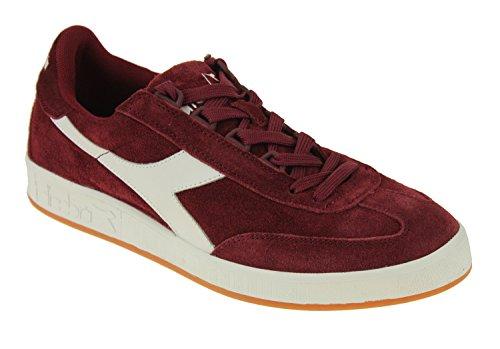 Diadora Herren B. Original Tennisschuh Tibetisch Rot / Weiß
