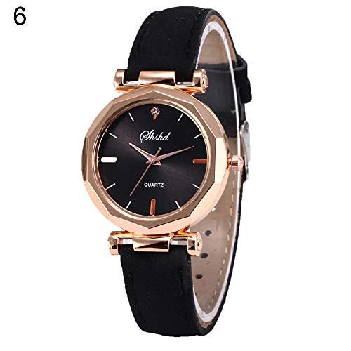 Women Watch Sale Clearance Vintage Matte Faux Leather Rhombus Rhinestones Quartz Soft Wrist Watch by Gaweb (Image #9)