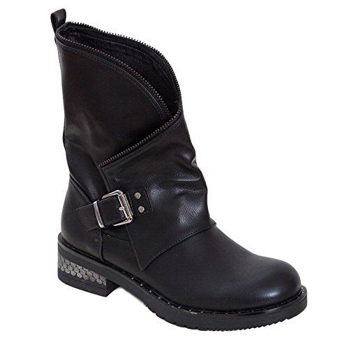 Pour Femme Toocool Bottes G506 Noir UEEqtgw