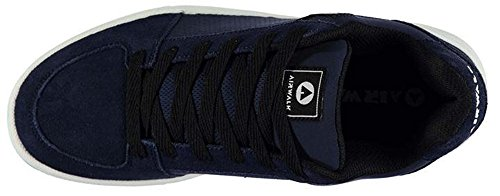 Mens Sports Suede Accents Brock Skate Shoes Trainers Navy 24O23v