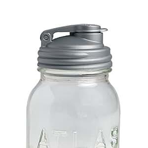 reCAP Mason Jars POUR, Regular Mouth, Canning Jar Lid, Silver