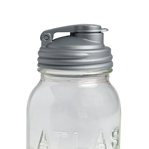 ReCAP Mason Jars POUR, Regular Mouth, Canning Jar Lid, Silver