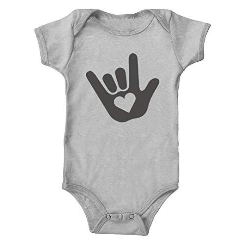 Trunk Candy ASL I Love You Sign Language Infant Bodysuit (Heather, 6M)