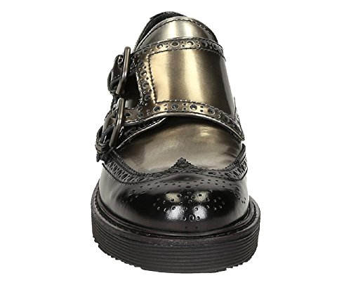 Con Gris Correa Monk Prada Zapatos 3E5740AZ3F0308 Cuero Mujer 6TqXTp