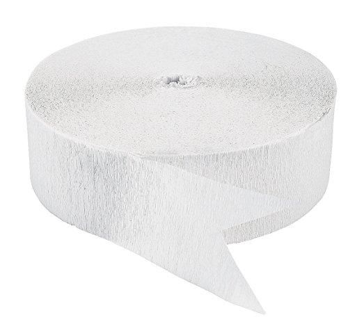 White Streamer (White Crepe Paper Streamers (500)