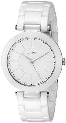 DKNY Women's NY2291 Stanhope White (Dkny Ladies White Ceramic)