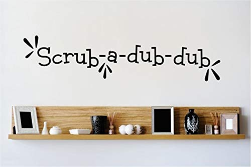 Wall Sticker Removable Home Decor Wall Vinyl Decals Scrub-A-Dub-Dub for Bathroom -