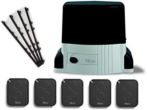 Nice TH1500KIT (motor TH1500 + 5 X FLO2RE transmisores) para el accionamiento de puertas correderas de hasta 1500 kg, 230 Vdc, con central incorporada + 4m Cremallera nylon: Amazon.es: Bricolaje y herramientas