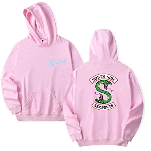 Sweat Emilyle Pour Logo Unisexe Manches Femme Longues Capuche À Rose Riverdale Serpent South Side Sweatshirt Pull Homme 7q7a5rxw