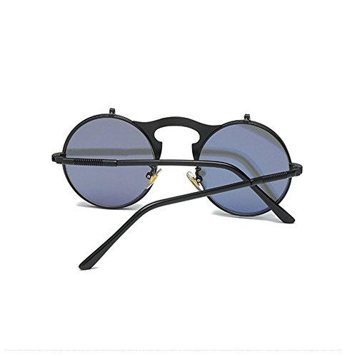 Aoligei Steam punk métal rétro flip lunettes de soleil pour hommes et femmes eGxIjW
