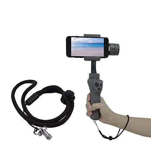 (Huangou �� Strap Wrist Lanyard �� for DJI Osmo Mobile 1/2 Camera Handheld Gimbal Wrist Lanyard Strap Base Mount (Black,)