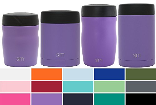 Simple Modern Rover - 16oz Rover Food Jar - Vacuum Insulated 18/8 Stainless Steel Leak Proof Food Storage Container - Hydro Thermos Flask - Lilac Purple