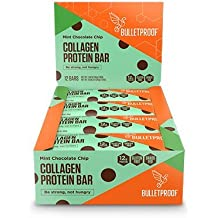 Bulletproof - Shortbread Collagen Protein Bars, Be Strong, Not Hungry, Mint Chocolate Chip(12 Pack)