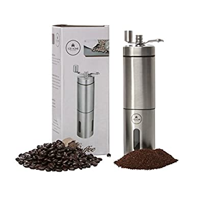 EZE Homegoods Manual Hand Burr Grinder - Best Available Conical Ceramic Portable Grinder