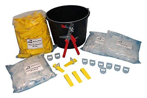 Balleo Fliesen Nivelliersystem XL Set 300 Laschen 250 Keile Metallzange für Bodenfliesen B079WDKGP3 | Langfristiger Ruf