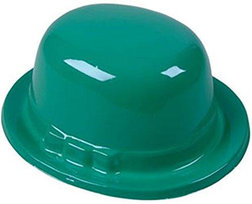 Green Irish Leprechaun Plastic Derby Costume Party (Green Plastic Derby Hat)