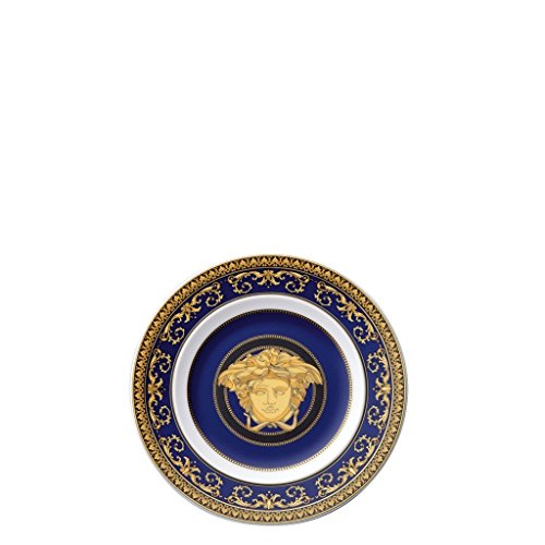 Versace by Rosenthal Medusa Blue 7-Inch Bread & Butter Plate