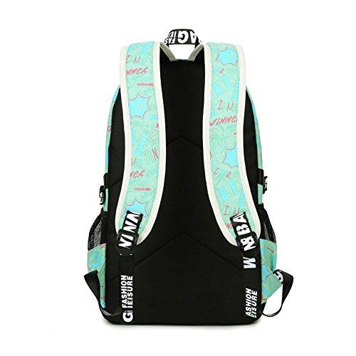 Yokeeyoo - Bolso mochila  para mujer verde azul claro Free Deep Blue