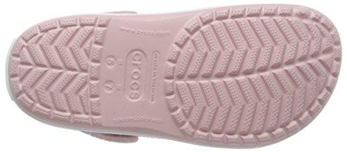 Crocs Crocband Clog Zuecos con Correa, Unisex Adulto Rosa (Pearl Pink/Wild Orchid)