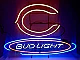 Desung New 24''x20'' Chicago Sports Team Bear Bud-Light Neon Sign (Multiple Sizes Available) Man Cave Bar Pub Beer Handmade Neon Light FX121