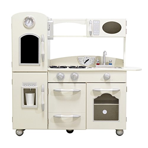 Wooden Play Kitchen Set, White