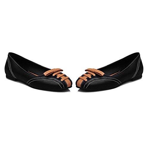 Allhqfashion Scarpe Da Donna Con Tacco A Spillo Tacco Basso Assortiti Colore Nero