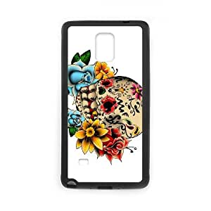 Samsung Galaxy Note 4 Cell Phone Case Black Sugar Skull Cover bppc