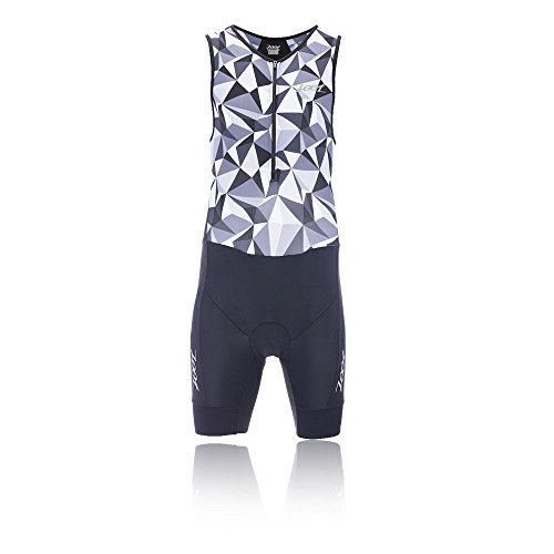 ZOOT Men's Performance Tri Race Suit, Black Camouflage, - Triathlon Race Suit