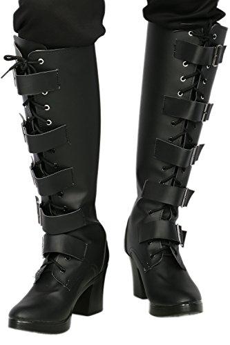 Selene Underworld Costume Boots (Selene Boots Deluxe Black PU Knee-high Women Cosplay Underworld Shoes 38)