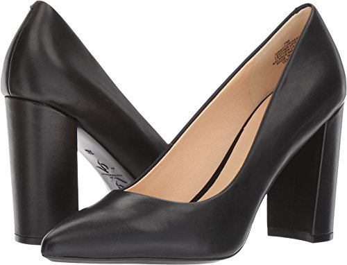 Nine West Women's Astoria Pump, Black Leather, 7 Medium US