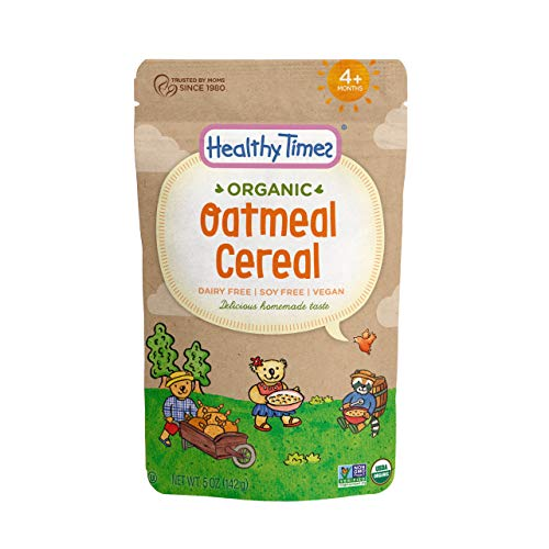 Healthy Times Organic Whole Grain Baby Cereal, Oatmeal | Baby Food for Babies 4 Months & Older | 5 Oz. Bag, 1 Count (Best Cereal For Iron)