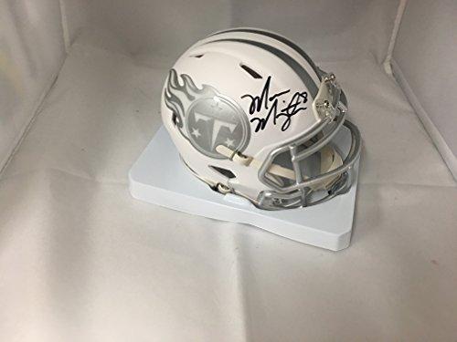 Signed Titans Mini Helmet (Marcus Mariota Signed Autographed Tennessee Titans Rare ICE Mini Helmet GTSM Hologram)