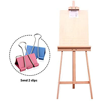 Zhangsha 1.45 M Red Enamel Wooden Oil Painting Sketch Wood Easel Drawing Board Set Advertising Poster Display Stand