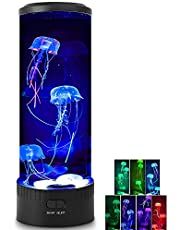 Jellyfish Lamp - HaiZR Jellyfish Lava Lamp LED Color Changing Light, Aquarium Round Artificial Jellyfish Night Light for Home Office Room Desk Decor Lamp, Christmas Birthday Romantic Gifts for Kids, Parents, Loverly