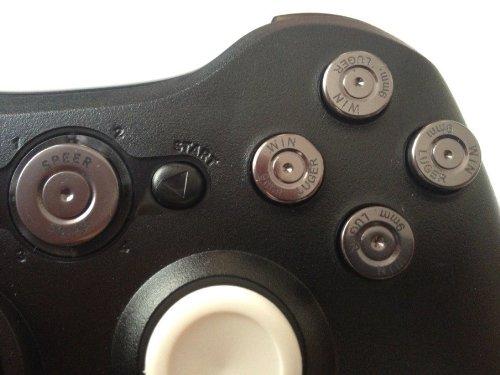 Custom Metal Xbox 360 Controller ABXY & Guide Bullet ...