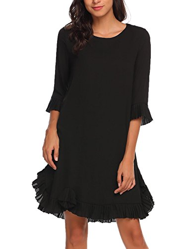 Black Ruffle Dress - 9
