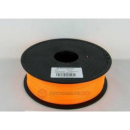 Filamento PLA 3.00 mm 3d fluorescente color naranja ...