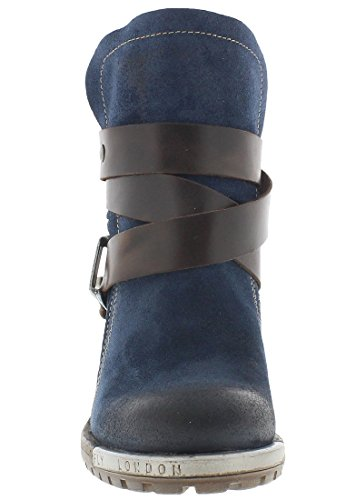 Fly London Womens Lok Suede Boots Ocean/Dk Brown