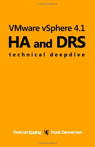 [PDF] VMware vSphere 4.1 HA and DRS Technical deepdive Free Download | Publisher : CreateSpace | Category : Computers & Internet | ISBN 10 : 1456301446 | ISBN 13 : 9781456301446