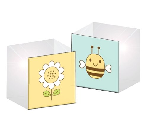 Prima 200961 Acrylic Bee Print Rubber Stamp with 1-1/2 by 1-1/2-Inch Block
