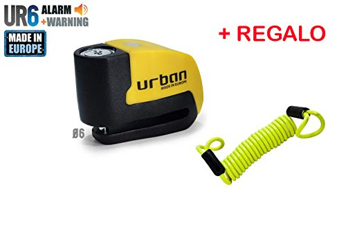 URBAN Candado de disco UR con Alarma mm dba  REGALO Cable