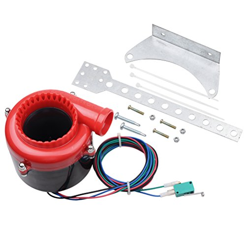 Red Black Car Fake Electronic Turbo Blowoff Blow Off Valve BOV Analog Sound For Honda Mazda Mitsubishi Toyota