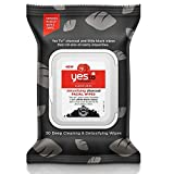 Yes To Tomatoes Charcoal Face Wipes for Clear Skin - Deep Cleaning and Detoxifying Facial Wipes | 30 Count