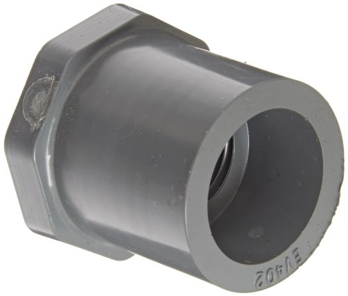 Gray Spears 438-G Series PVC Pipe Fitting Bushing 3//4 Spigot x 1//2 NPT Female 3//4 Spigot x 1//2 NPT Female Spears Manufacturing Schedule 40