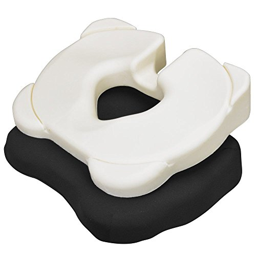 Kabooti 3-in-1 Donut Seat Cushion with Tailbone Cutout for Coccyx Relief, Black