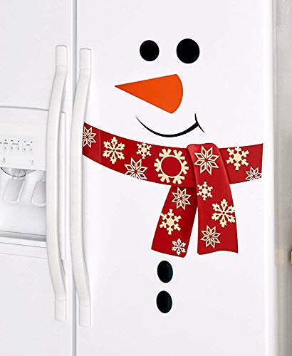 Snowman Refrigerator or Other Large Appliance Magnets Choose from Red or Green (Red Snowman)