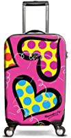 """Britto Hearts Carnival 22"""" Hardsided Spinner Suitcase"""