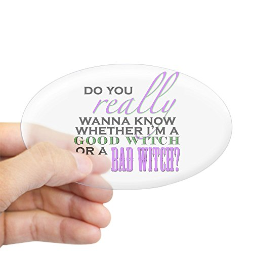 Large Ovals Wizard - CafePress Do You Really Wanna Know? Oval Sticker Oval Bumper Sticker, Euro Oval Car Decal