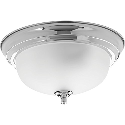 Progress Lighting P3924-15ET Traditional/Classic 1-60W Med Flush Mount, Polished Chrome